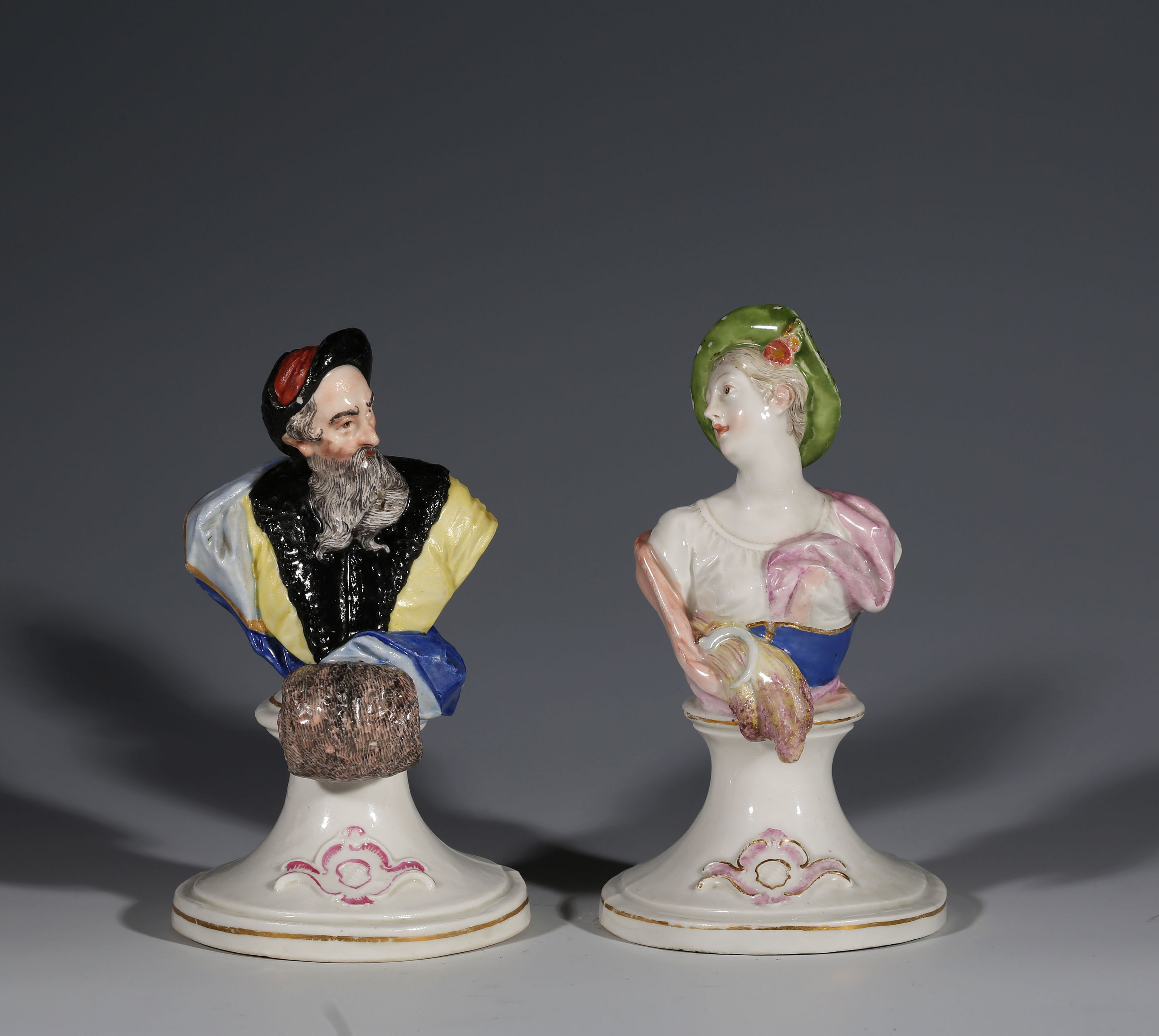 Two Nymphenburg Busts of Summer and Winter, Modelled by Franz Anton Bustelli