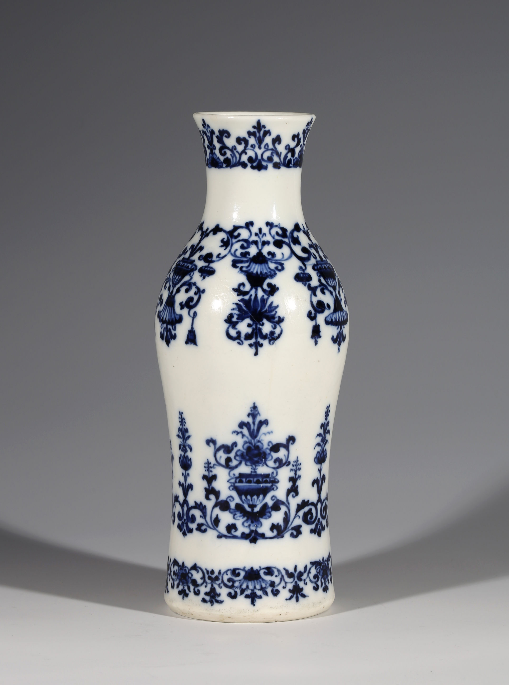 An Early Saint Cloud Blue and White Vase