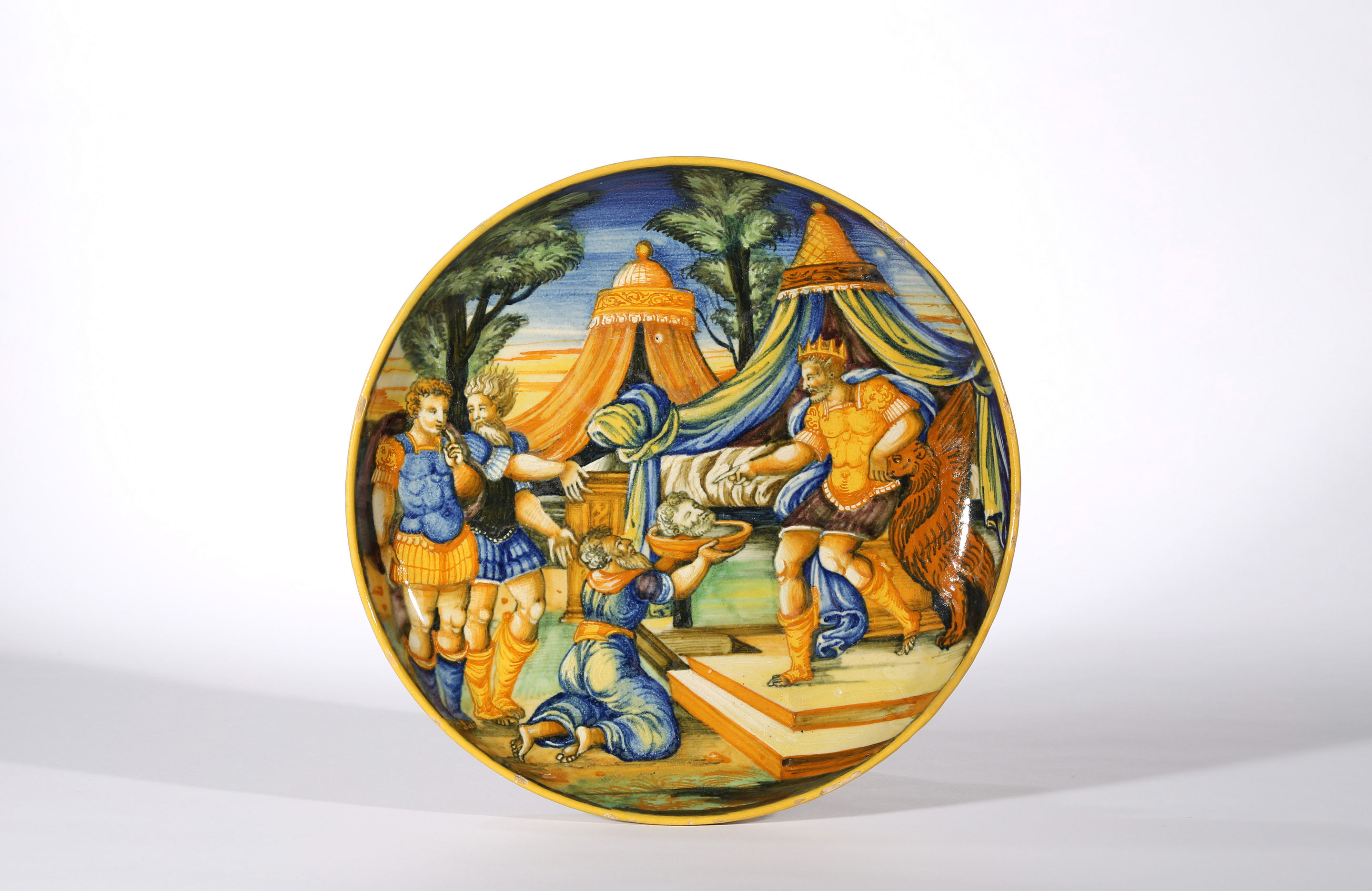 Pesaro Istoriato Shallow Bowl on Low Foot, Sforza di Marcantonio, 1561