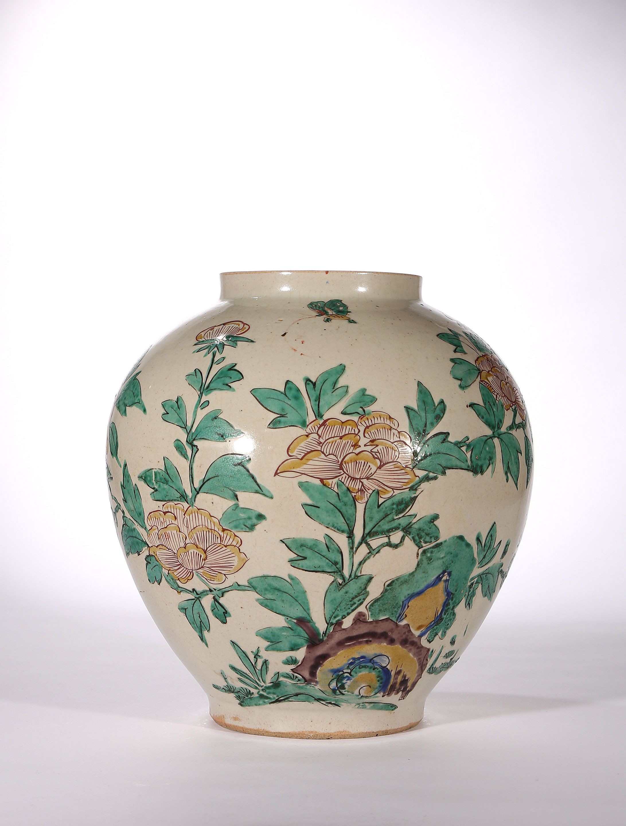 An Early Enamelled Arita Jar