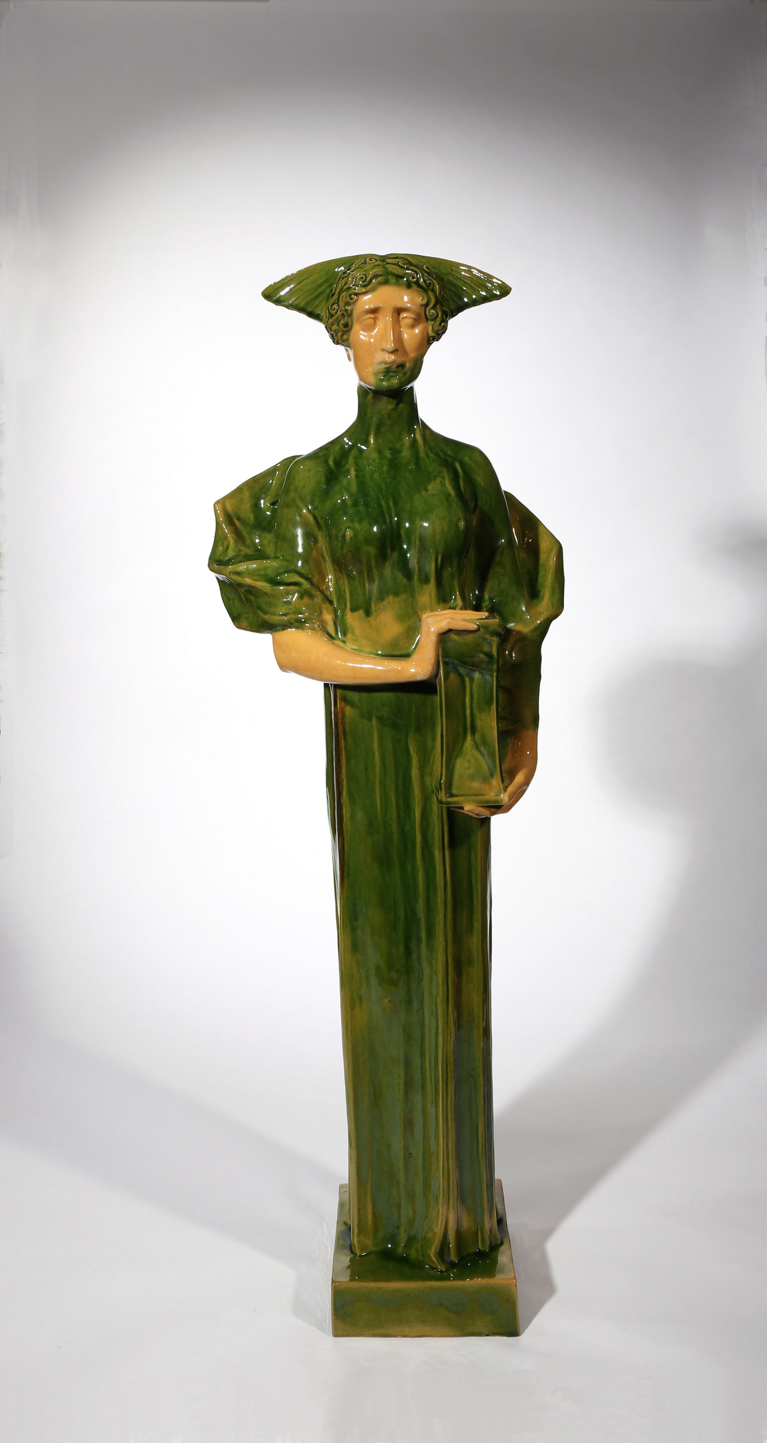 A Large Glazed Pottery Figure of Fate, By Michael Powolny