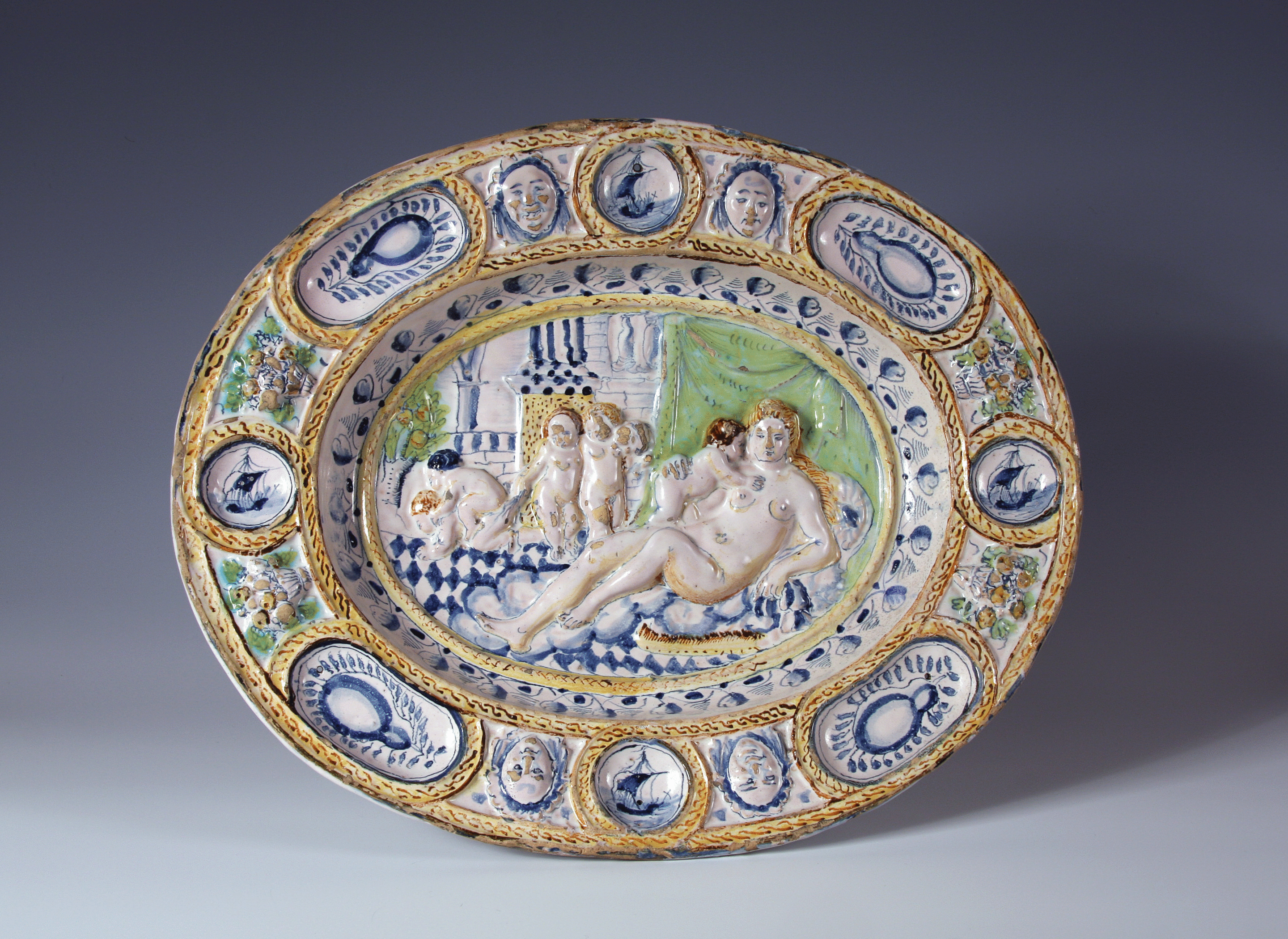 An English delft Fecundity Dish
