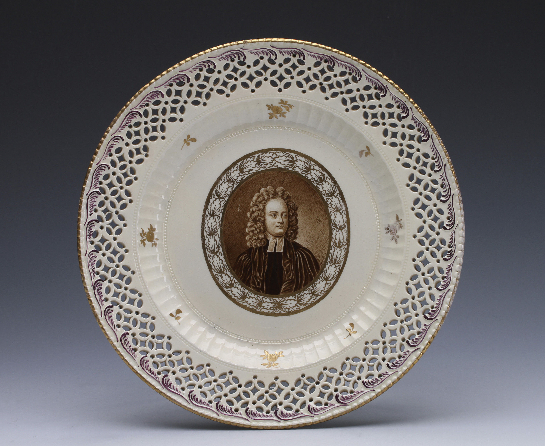 A Creamware plate