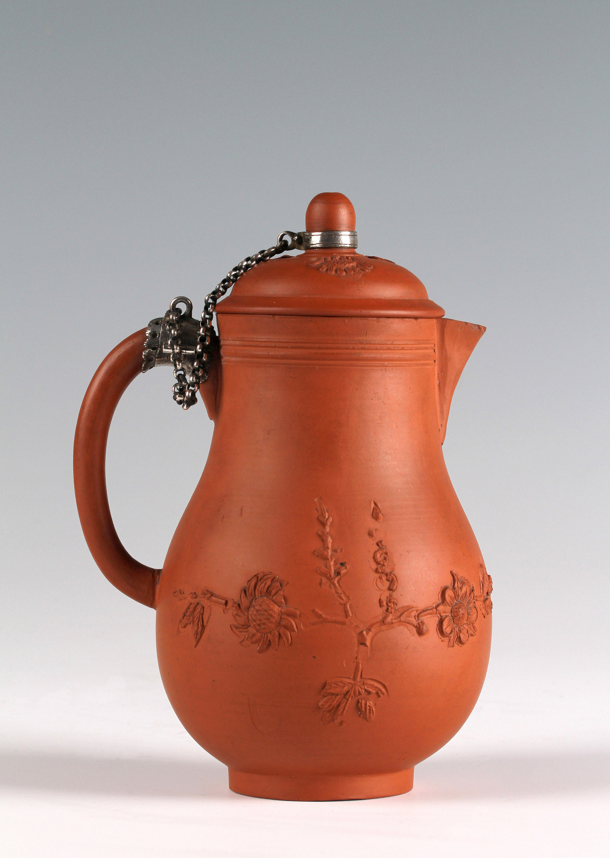 An Elers Brothers Silver-mounted Milk Jug and Cover, Staffordshire