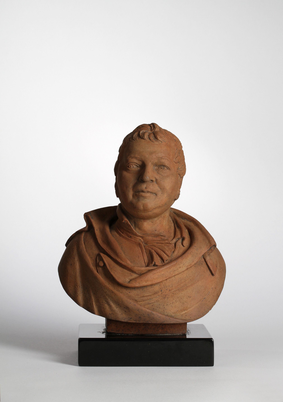 Terracotta Bust of an Unidentified Gentleman Incised W J Coffee Fecit Derby 1814