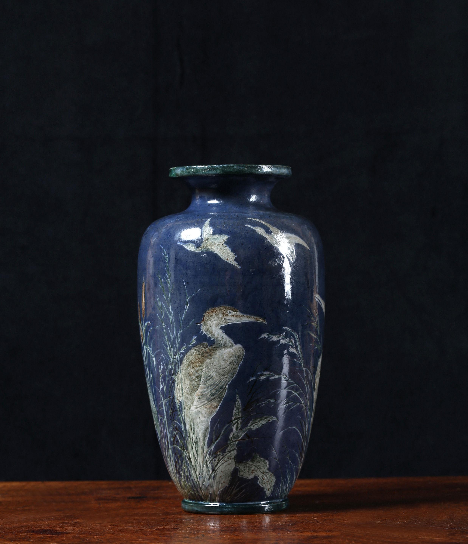 A Martin Brothers Stoneware Bird Vase